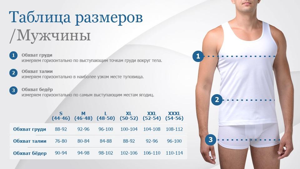 Термобельё Kifa размеры мужчины